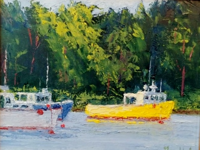 YELLOW BOAT 11 X 14