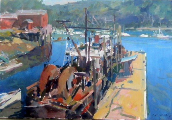 AT THE DOCK 24 X 36