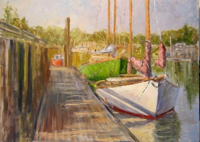 ALONG THE DOCK 18 X 24