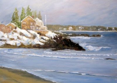 FROM MOTHER'S BEACH IN WINTER 18 X 24