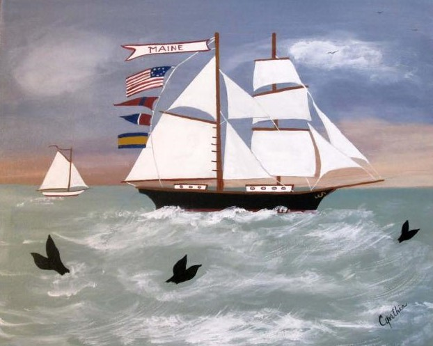 GONE WHALING 16 X 20