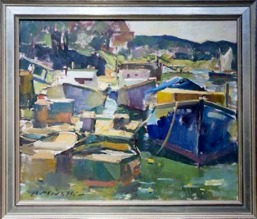 LOBSTER BOATS 20 X 24