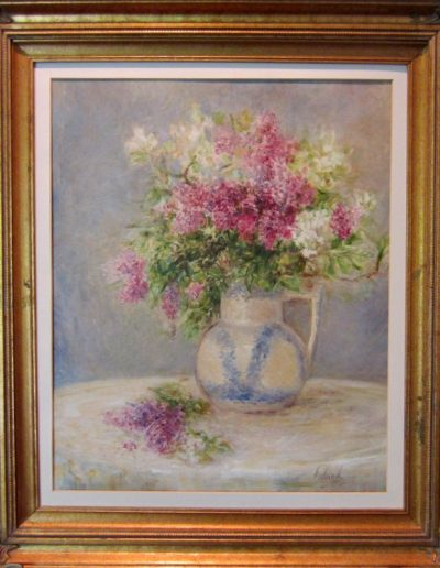 LILACS AND APPLE BLOSSEMS