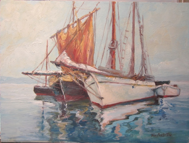 MOORED 18 X 24