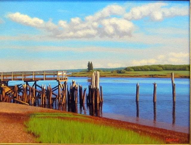 OLD PIER - SOUTH SHORE 18 X 24