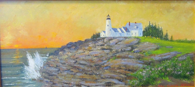 PEMAQUID  LIGHT 12 X 26