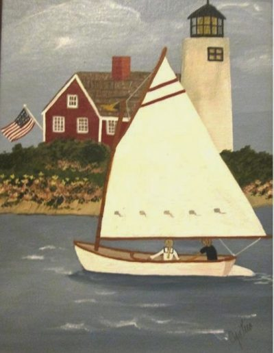 ROUNDING THE LIGHTHOUSE 12 X 9