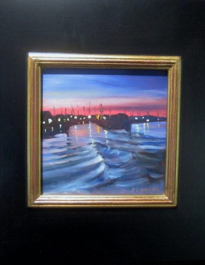RIVER NIGHT 6 X 6