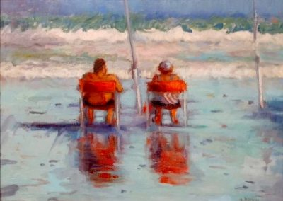RED CHAIRS 12 X 16