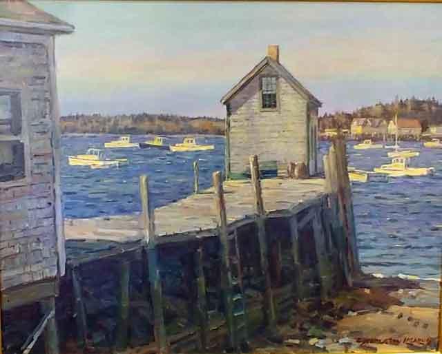 Vinalhaven Pier 16 x 20 $4,150.